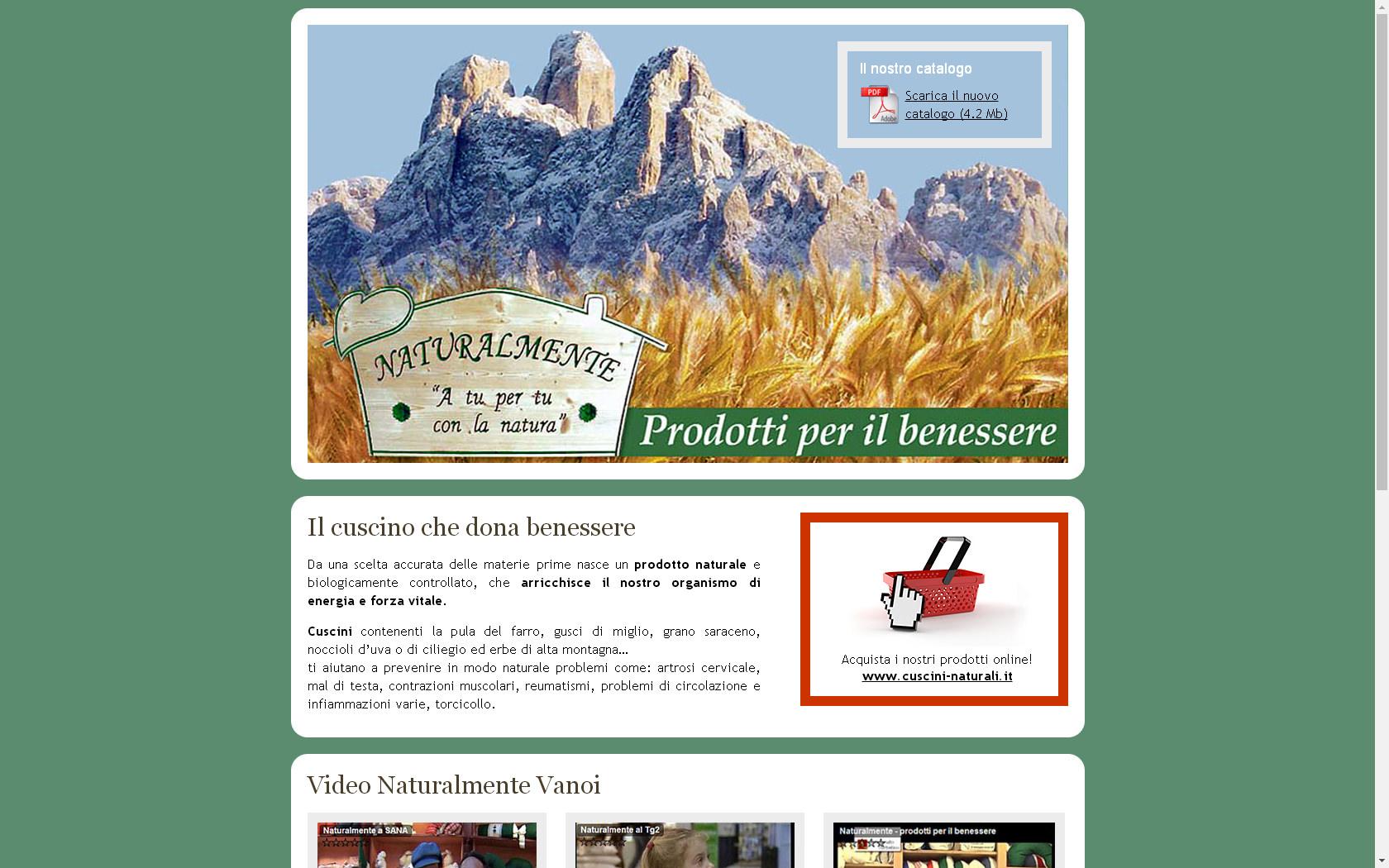 Naturalmente Cuscini.Consapevolmente Trentino Naturalmente By T L V S A S